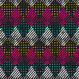 Retro cloth seamless texture Royalty Free Stock Images