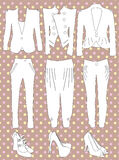 Retro clothes for woman. Vector illustration of retro clothes for woman Stock Photo