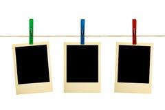 retro clothespins fotografia Zdjęcie Royalty Free