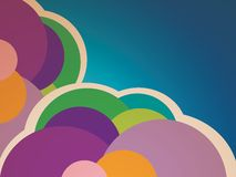 Retro Cloud Background Royalty Free Stock Photos