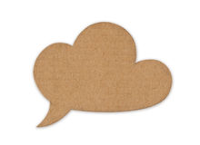 Retro cloud for message. Made of cardboard Stock Photography