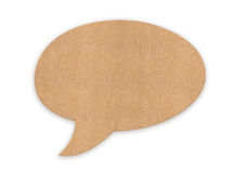 Retro cloud for message. Made of cardboard Royalty Free Stock Photography