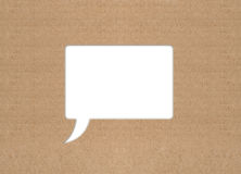 Retro cloud for message. Made of cardboard Royalty Free Stock Photo