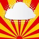 Retro cloud and sun background Royalty Free Stock Photo