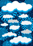 Retro Clouds Background_eps Stock Photos