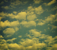 Retro Clouds Royalty Free Stock Images