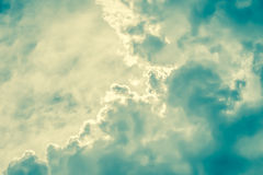 Retro cloudscape Stock Photo