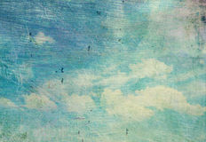 Retro cloudy sky Royalty Free Stock Photography