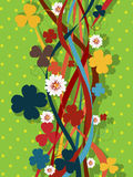 Retro clover pattern Royalty Free Stock Images