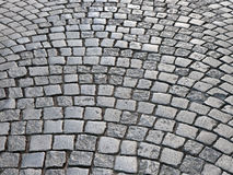 Retro cobblestone street Royalty Free Stock Photos