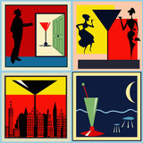 Retro Cocktail labels Stock Photography
