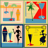 Retro Cocktail labels Royalty Free Stock Photos
