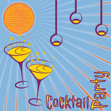 Retro cocktail party card Royalty Free Stock Photo