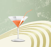 Retro cocktailglas Royalty-vrije Stock Afbeelding
