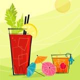 Retro- Cocktails (Vektor) Lizenzfreies Stockbild