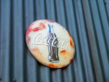 Retro coco cola sign Royalty Free Stock Image