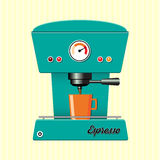 Retro coffe machine Stock Photography