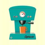 Retro coffe maszyna Fotografia Stock