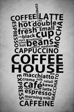 Retro Coffee Ad Background Stock Image