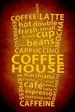 Retro Coffee Ad Background Stock Photo