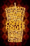 Retro Coffee Ad Background Stock Images