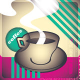 Retro coffee background. Retro coffee background in color Royalty Free Stock Image