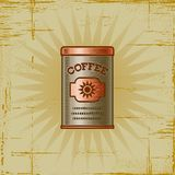Retro Coffee Can Royalty Free Stock Images