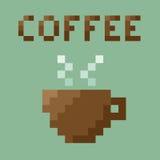 Retro Coffee Cup . 8 bit Pixel concept. Stock Image