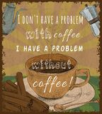 Retro coffee cup poster stock illustration