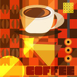 Retro coffee design Royalty Free Stock Photography