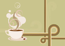 Retro Coffee Hot Cup Beans Poster Royalty Free Stock Photography