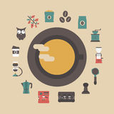 Retro coffee icon Royalty Free Stock Images