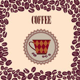 Retro Coffee Label. Vector Illustration Package. Royalty Free Stock Images