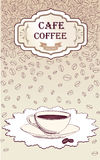 Retro Coffee Label. Vector Illustration Package. Stock Image