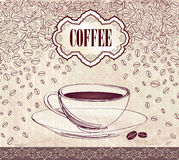 Retro Coffee Label. Vector Illustration Package. Royalty Free Stock Photo