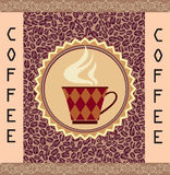 Retro Coffee Label. Vector Illustration Package. Stock Photo