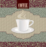 Retro Coffee Label. Vector Illustration Package. Royalty Free Stock Photography