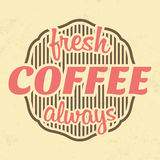 Retro Coffee Label - Vintage Background Royalty Free Stock Image