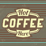 Retro Coffee Label - Vintage Background Stock Photos
