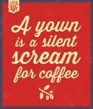 Retro Coffee Label Stock Photos