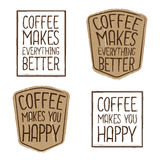 Retro Coffee Labels Royalty Free Stock Image