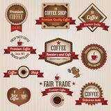Retro coffee labels Stock Images