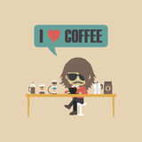 Retro coffee lover Royalty Free Stock Photography