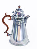 Retro coffee pot Stock Photo