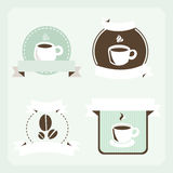 Retro coffee set. Colored illustration. EPS 10.0. RGB. Illustration can be used as template for cafe, restaurants, food bar. Also can be use as template for Royalty Free Stock Photos