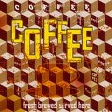 Retro coffee sign, propaganda Stock Photo