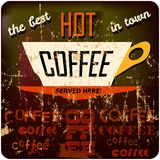 Retro coffee sign Royalty Free Stock Photo