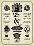Retro Coffee and tea Royalty Free Stock Photos