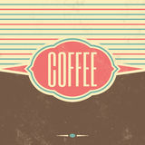 Retro Coffee Vintage Background Stock Image