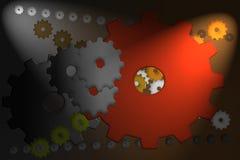 Retro cogwheels i lekcy promienie ilustracji